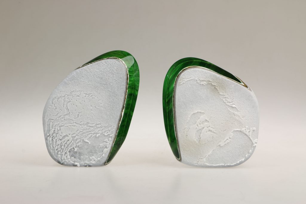 Bastien Thomas, 'Étude n°3' [set of 2 green pieces], Hot sculpted glass, cut and polished, dimensions variable. Courtesy the artist.