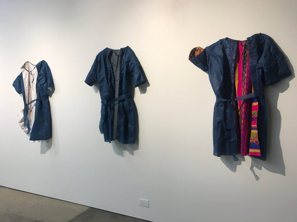 Jessie Lumb, 'Idea for Hospital Gown', 2017, mixed media, installation view, praxis ARTSPACE.