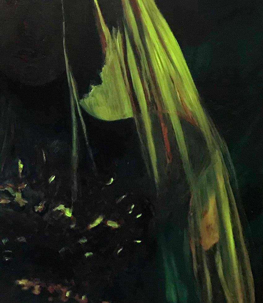 Patty Chehade, 'Veil' (detail), 2018, Oil on Canvas, 1210 x 1010 mm