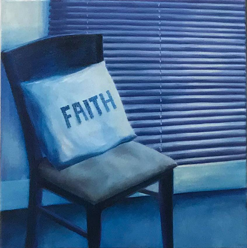 Chris Thiel, 'Faith', 2018, Oil on canvas, 610 x 610 mm.