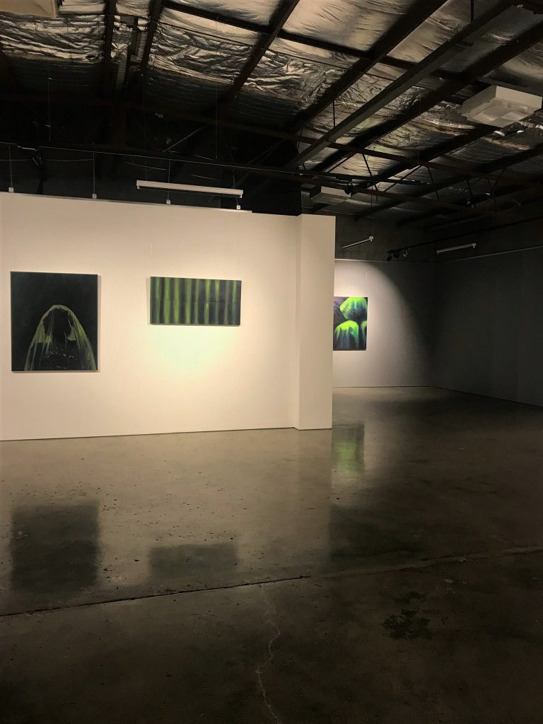 '13:12*', Patty Chehade and Chris Thiel, installation view, praxis ARTSPACE, July 2018. Courtesy the artists.