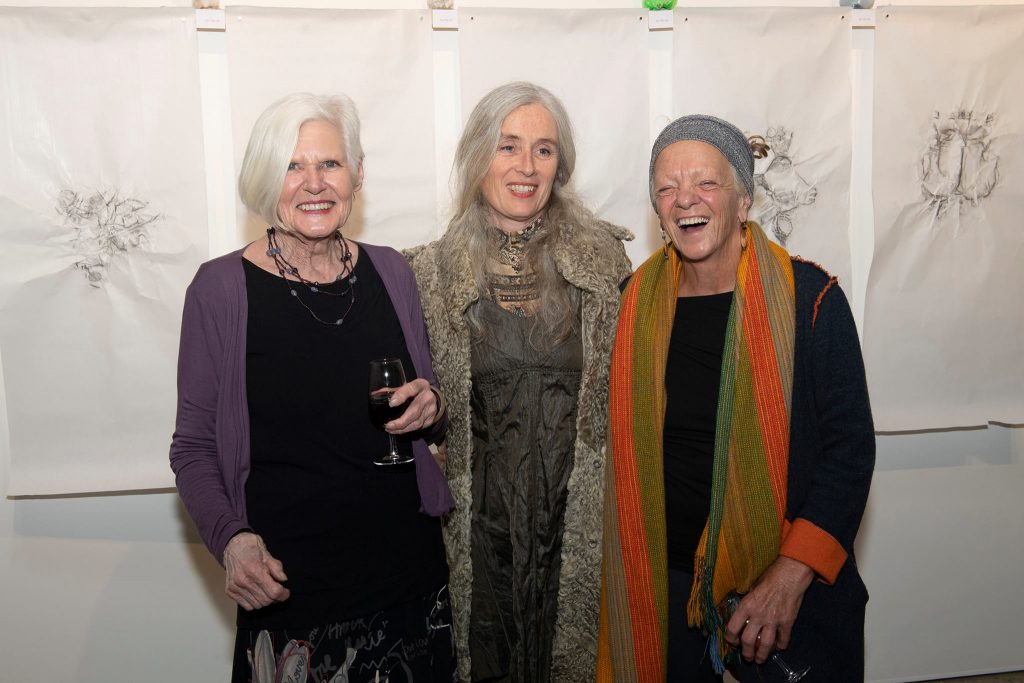 'Best After' opening night, (L-R Liz Butler, Renate Nisi, Cynthia Schwertsik. Photography by Iain Bond.