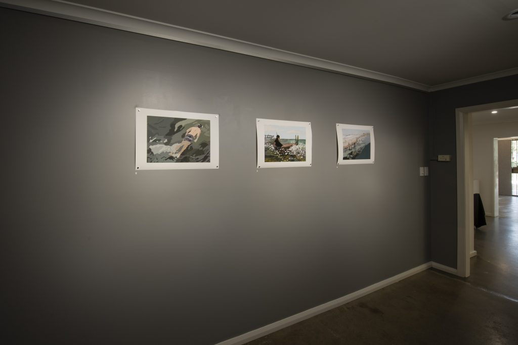 Therese Williams, selected work from 'Coastal Echoes', installation view, praxis ARTSPACE. Photography by Iain Bond.