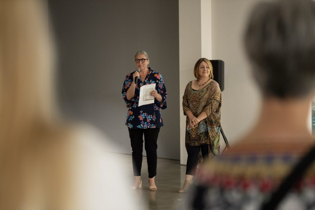 'Coastal Echoes', Christopher and Therese Williams, opening night, praxis ARTSPACE, September 2018. Photography by Iain Bond.