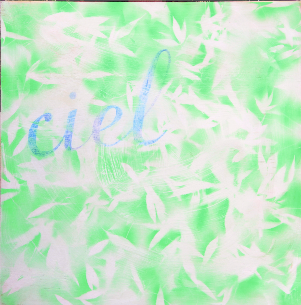 Joe Felber, 'Ciel', 2016, enamel spray-paint on plywood, 60 cm x 60 cm. Courtesy the artist.