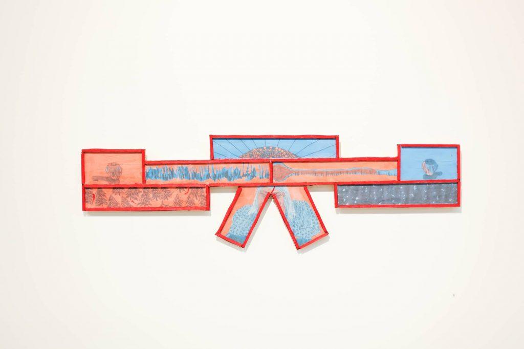 Simon Deboer, 'Seesaw', 2016, Digital Print on MDF, 900x280mm. Courtesy the artist.