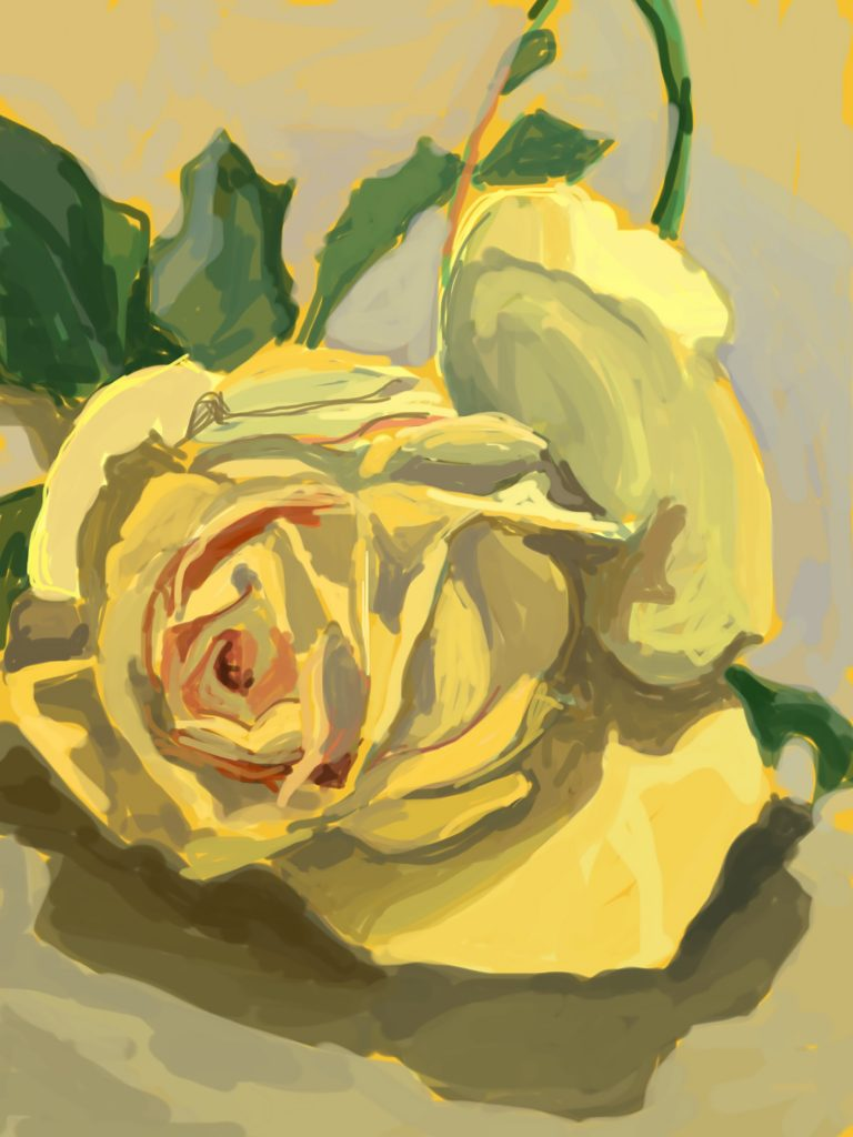 Sally Parnis, 'Full Blown Yellow,' 2016, digital painting. Courtesy the artist.