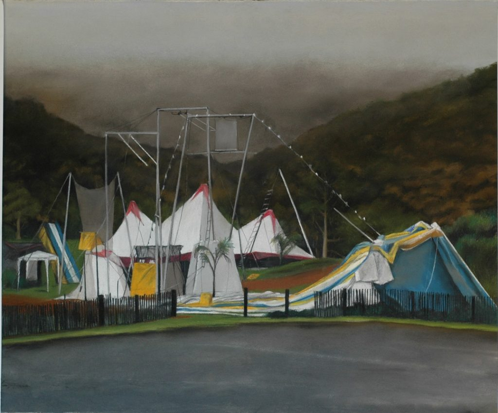 Trena Everuss, 'Circus tent, summer, bay of islands', 75 x 86cm. Courtesy the artist.