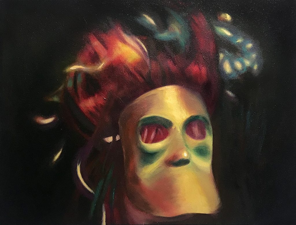 Patty Chehade, 'The Dark Knight of the Soul', 2018, Oil on Canvas, 440 x 590 mm.
