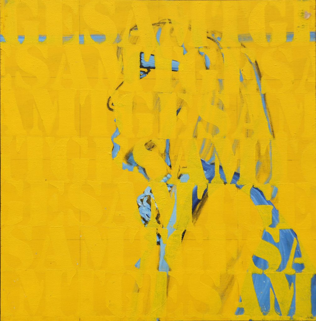 Joe Felber, 'Vom Stand der Dinge', Gesamtkunstwerk, 2007, Oil acrylic on wood, 45 x 45cm. Courtesy the artist.
