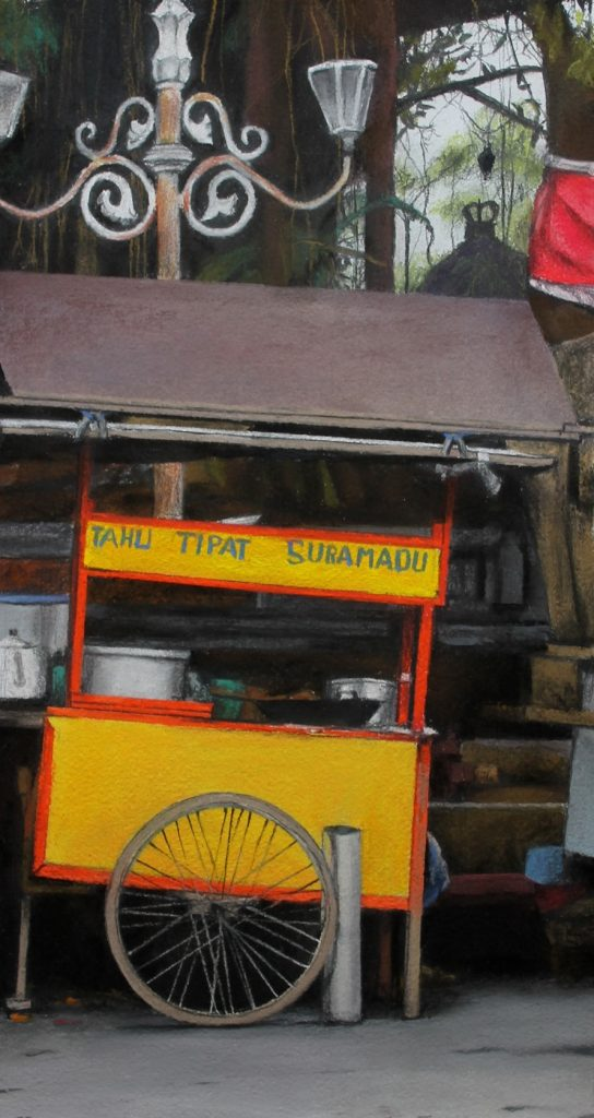 Trena Everuss, 'Yellow food cart, bali', 60 x 39cm. Courtesy the artist.