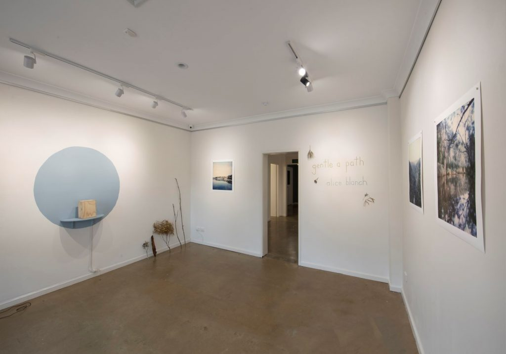 'Gentle a Path', Alice Blanch, opening night, November 2018. Photography by Iain Bond.