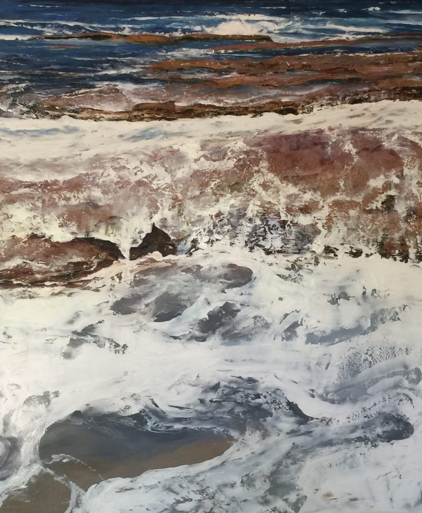 Catherine Fitz-Gerald,	'Rising tide 1', NSW, 2020, Oil on aluminium 122 x 102cm. $5100