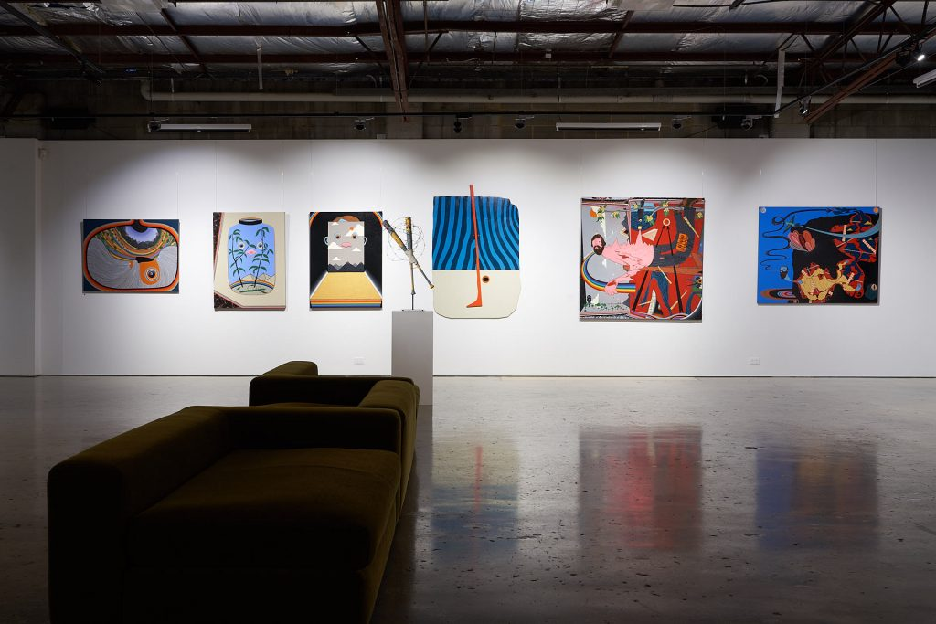 'STAY POSITIVE', Dan Withey, installation view, Praxis Artspace, August 2020. Photography by Sam Roberts.'STAY POSITIVE', Dan Withey, installation view, Praxis Artspace, August 2020. Photography by Sam Roberts.