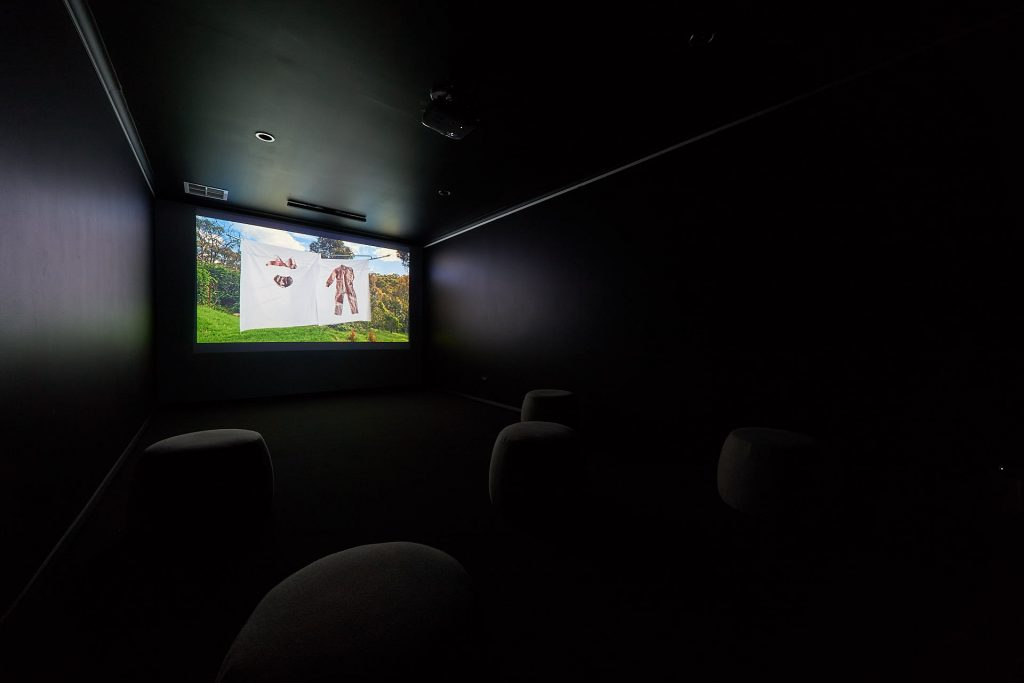 Zoe Freney, 'Just before rain', 2020, single channel digital video 7 minutes. Installation view, Praxis Artspace. Phtography by Sam Roberts.