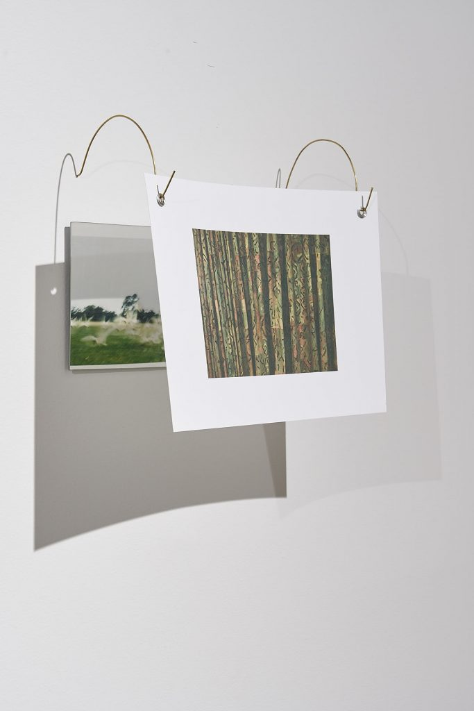 Nicole Clift, 'views' (detail), 2020, 35mm film photography on double-sided 276gsm cotton rag, brass rods, mirror, brass eyelets. Photography by Sam Roberts.