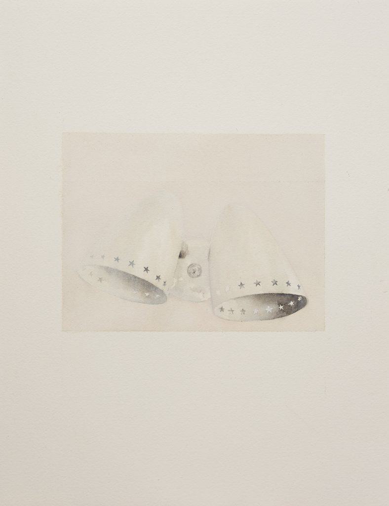 Talia Wignall, 'Wall Lights', 2020, watercolour and gouache on paper, 40x30cm. Photography by Sam Roberts