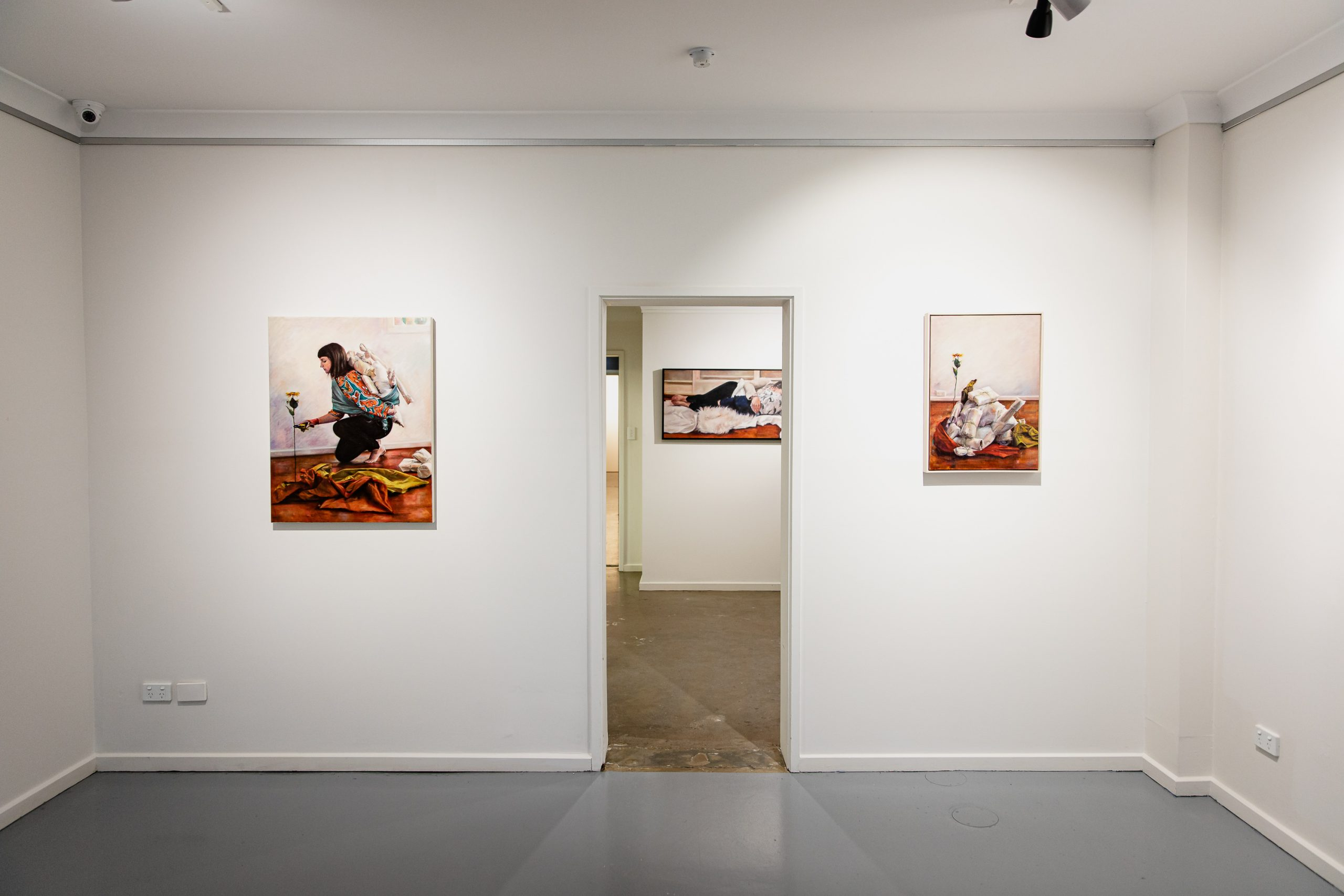 Installation view of 'Bundle', Praxis Front Gallery.  Photograph by Rosina Possingham, used with permission.
